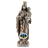 Our Lady of Mount Carmel Statue Bronze, Statues - Mystic Monk Coffee
