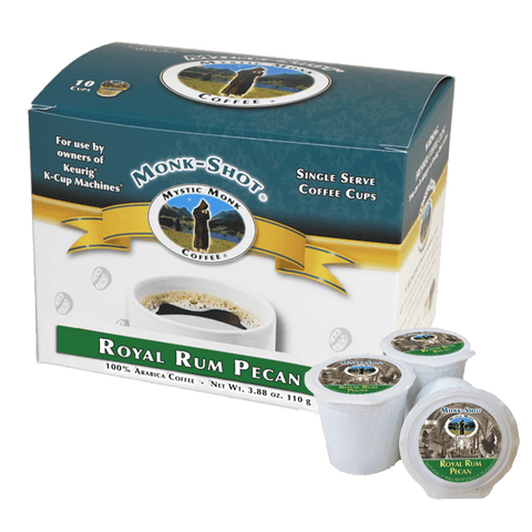 Royal Rum Pecan 10ct., Monk-Shots - Mystic Monk Coffee