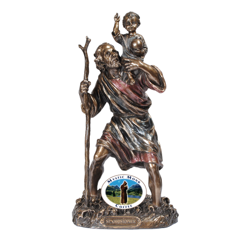 Saint Christopher Statue, Statues - Mystic Monk Coffee