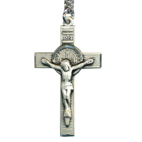 St. Benedict Crucifix Sterling Silver, Crucifixes - Mystic Monk Coffee