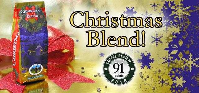 Crhistmas Blend Roasted Coffee Banner - Mystic Monk Coffee