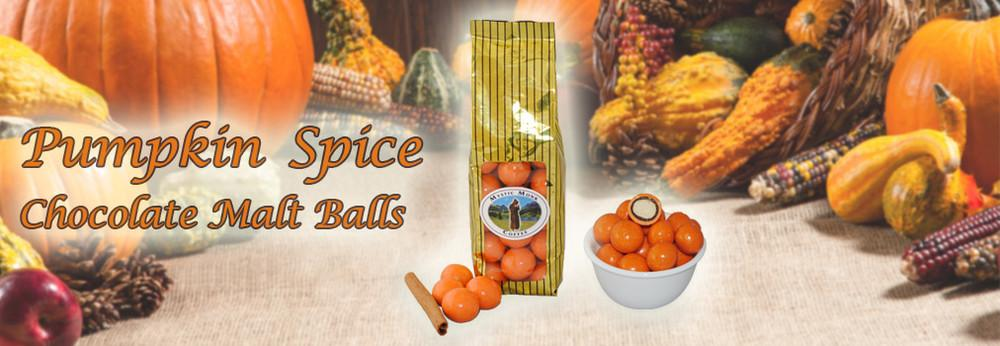 Pumpkin Spice Chocolate Malt Balls Slide
