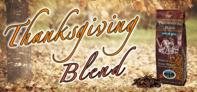 Thanksgiving Blend Roasted Coffee Banner - Mystic Monk Coffee
