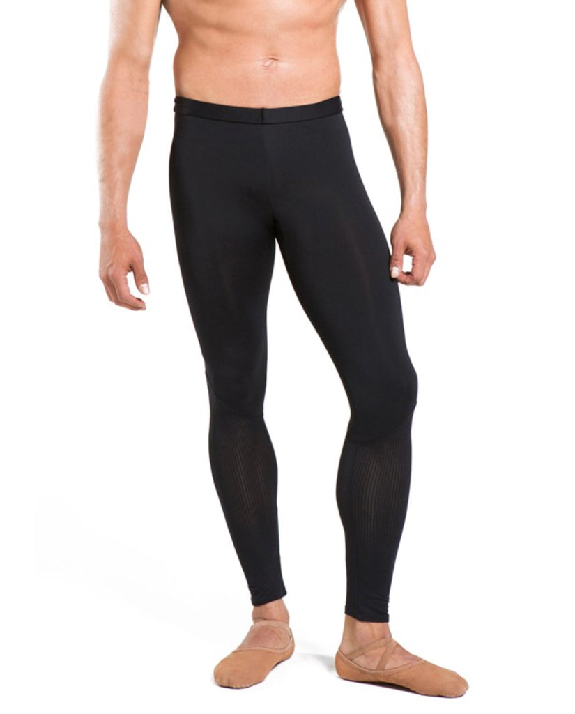 YDA men's black footless tights