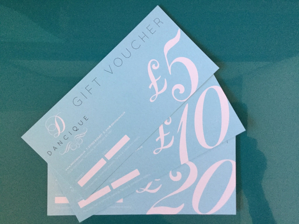 £5 Dancique Gift Vouchers