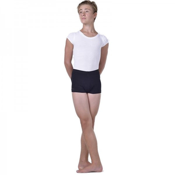 YDA Boys Black Ballet Shorts