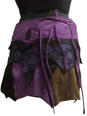 Wrap Skirt Purple-Psytrance Mini/FREE SHIPPING TODAY