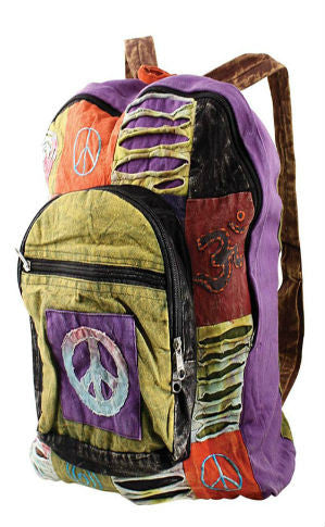 Funky Peace Sign Back Pack/FREE SHIPPING TODAY