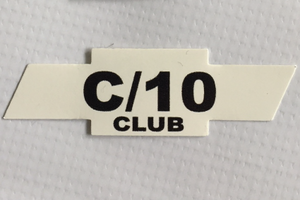 c10 club sticker