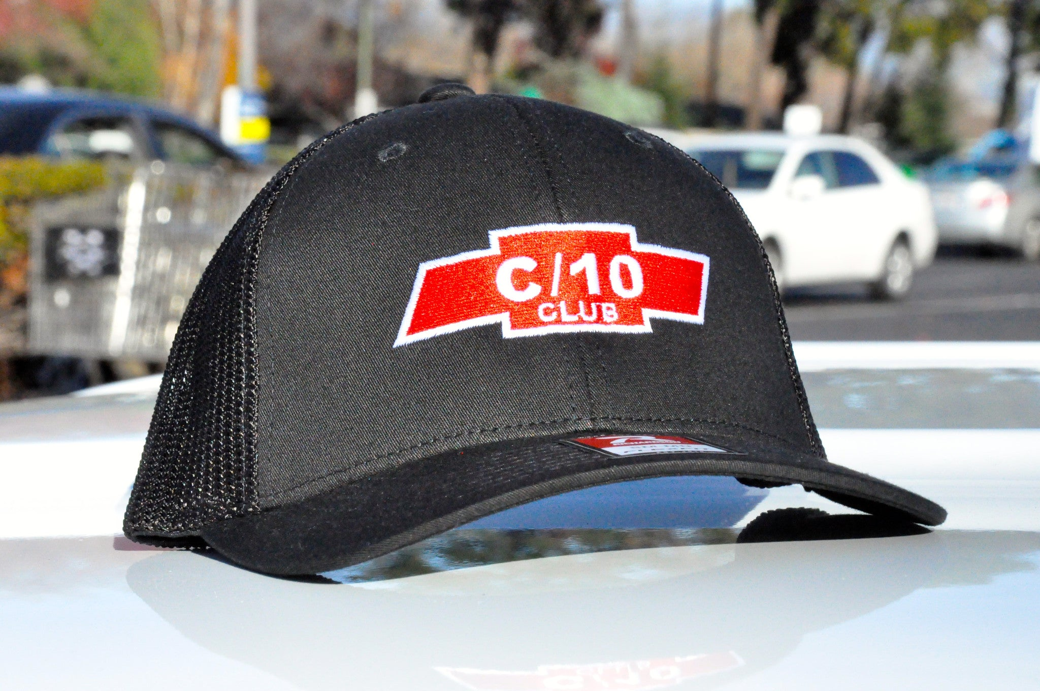 black c10 club apparel trucker hat