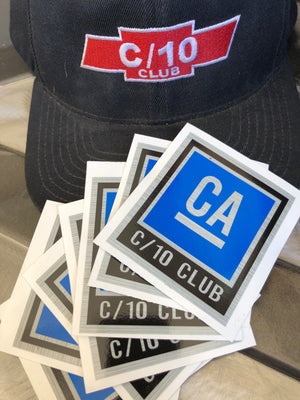 C10 Club California GM style stickers