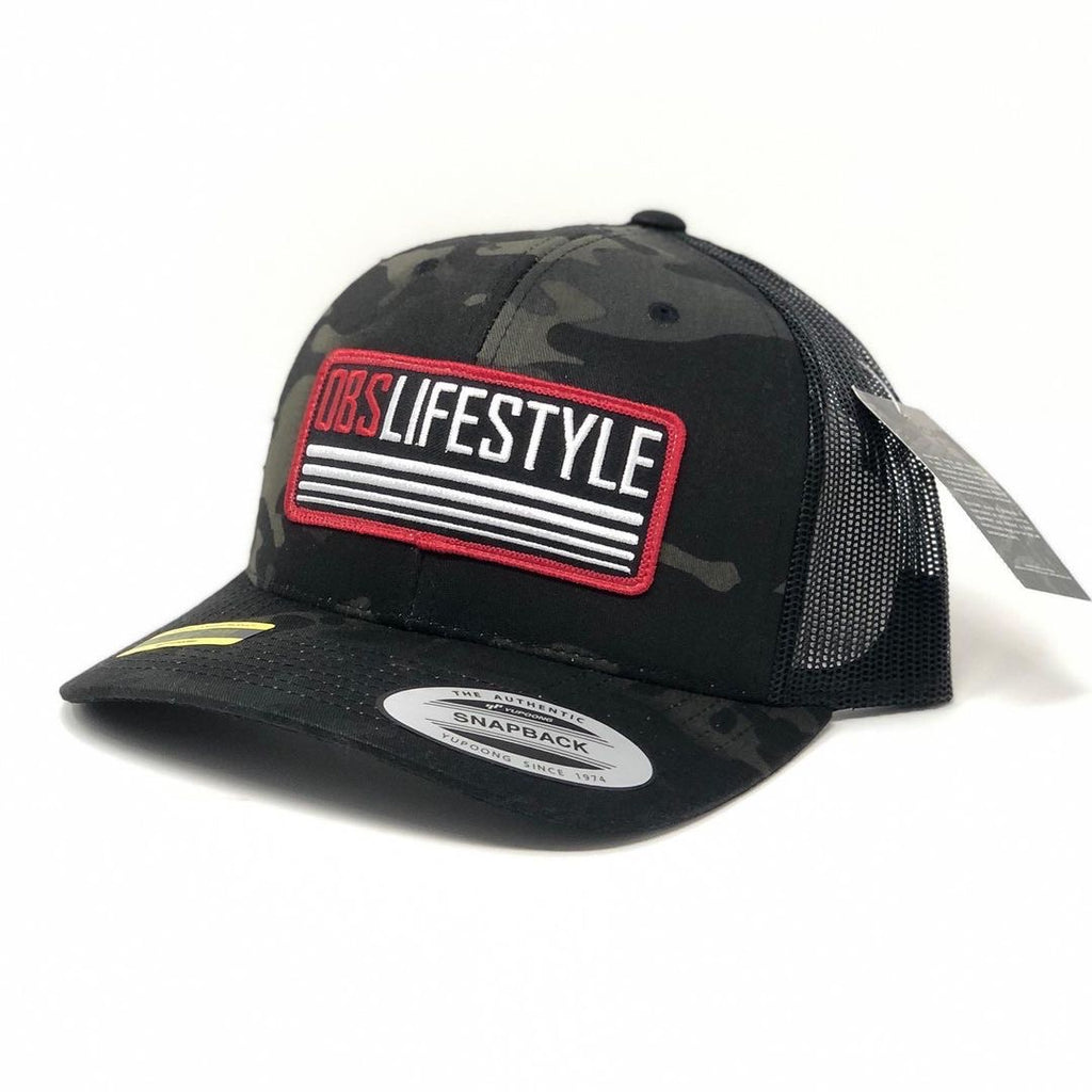 OBS Lifestyle Camo Trucker Patch Hat