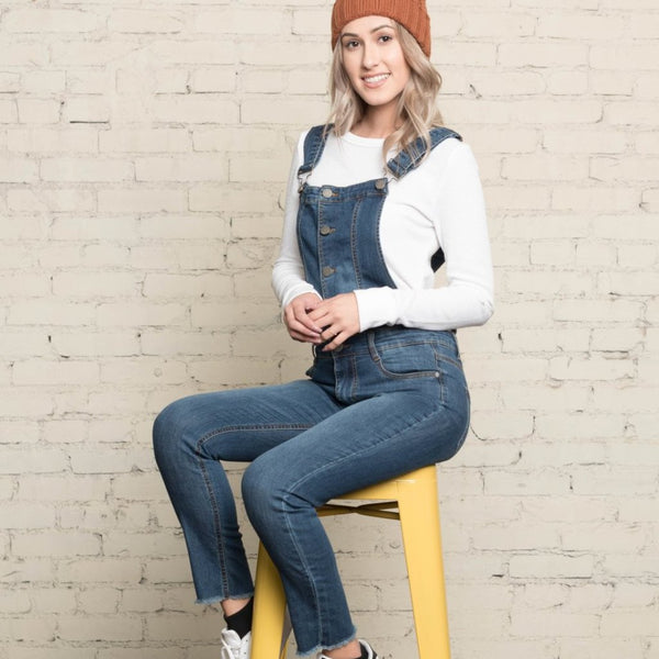Allison Avery - Denim Overalls - Free Shipping Over $50
