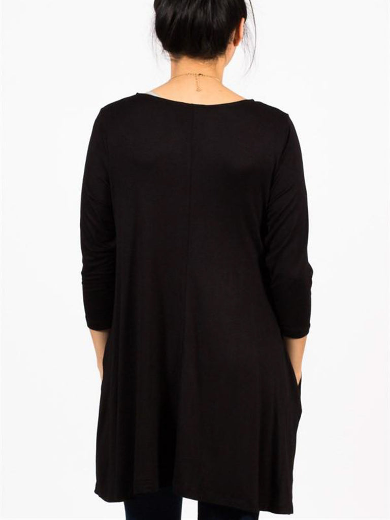 3/4 Sleeve Tunic with Pockets - Free Shipping Over $50 | AllisonAvery.com - 2