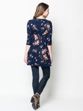 Allison Avery - Floral Wrap Tunic - Free Shipping Over $50