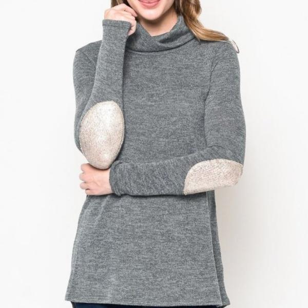 24f0391d22 Allison Avery - Button Back Turtleneck Sweater - Free Shipping Over  50