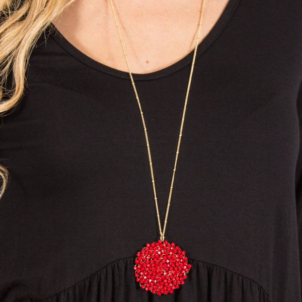 Allison Avery - Beaded Pendant Necklace 8981 - Free Shipping Over $50