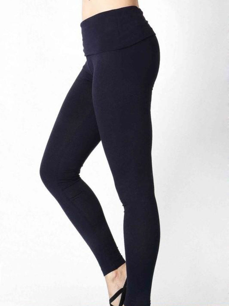 Allison Avery - Fold Over Skinny Yoga Pants - Free Shipping Over $50