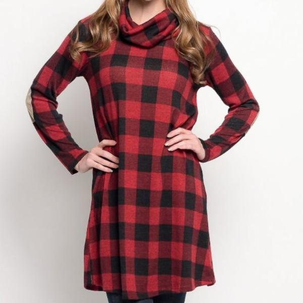 Allison Avery - Holiday Plaid Tunic - Free Shipping Over $50