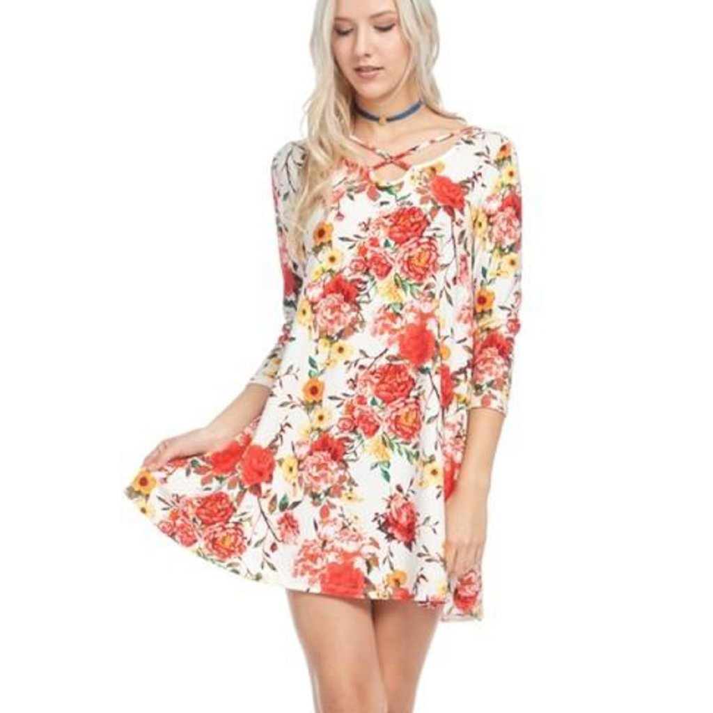 Must Have Floral Crossfront Tunic