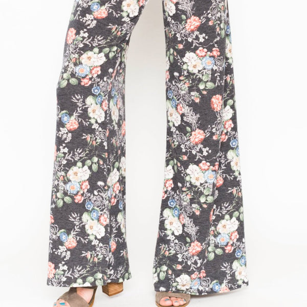 Allison Avery - Floral Lounge Pants - Free Shipping Over $50