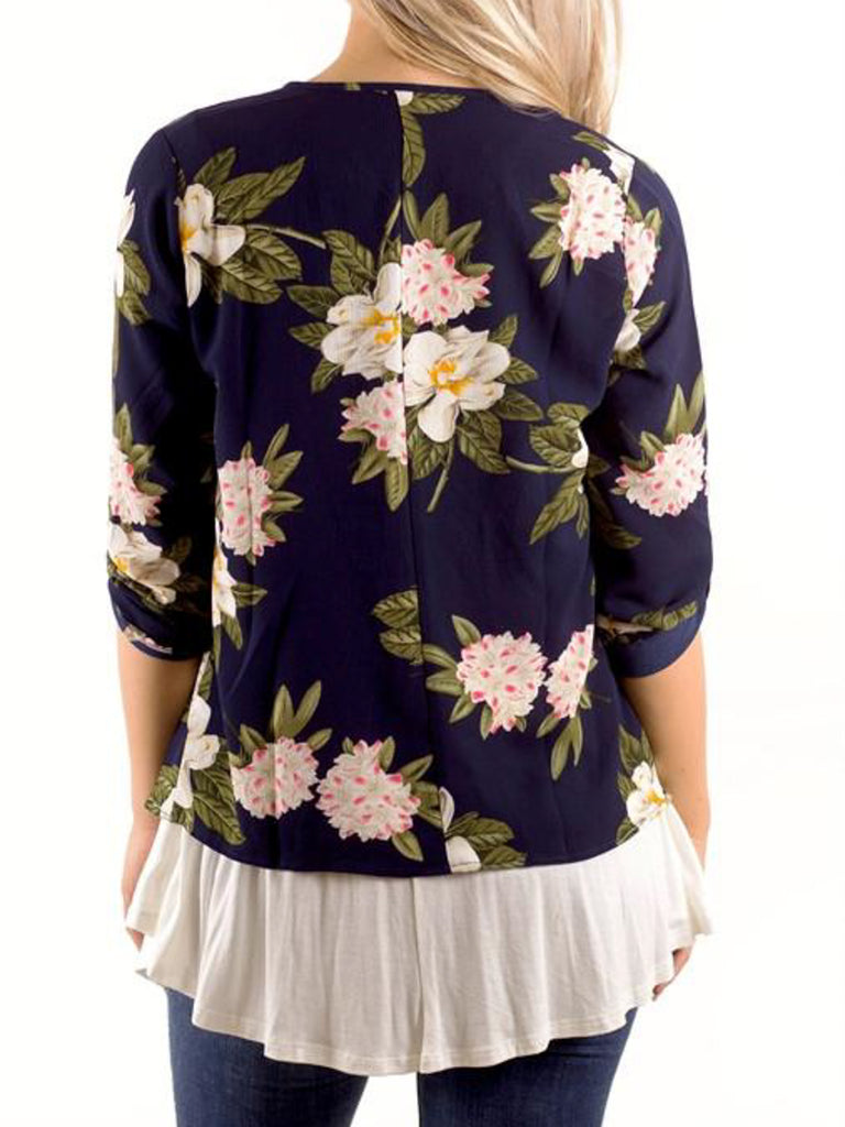 Floral Waterfall Cardigan