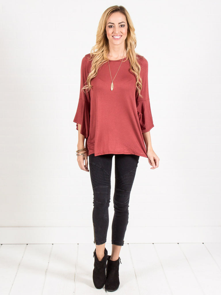 Allison Avery - Bell Sleeve Top - Free Shipping Over $50