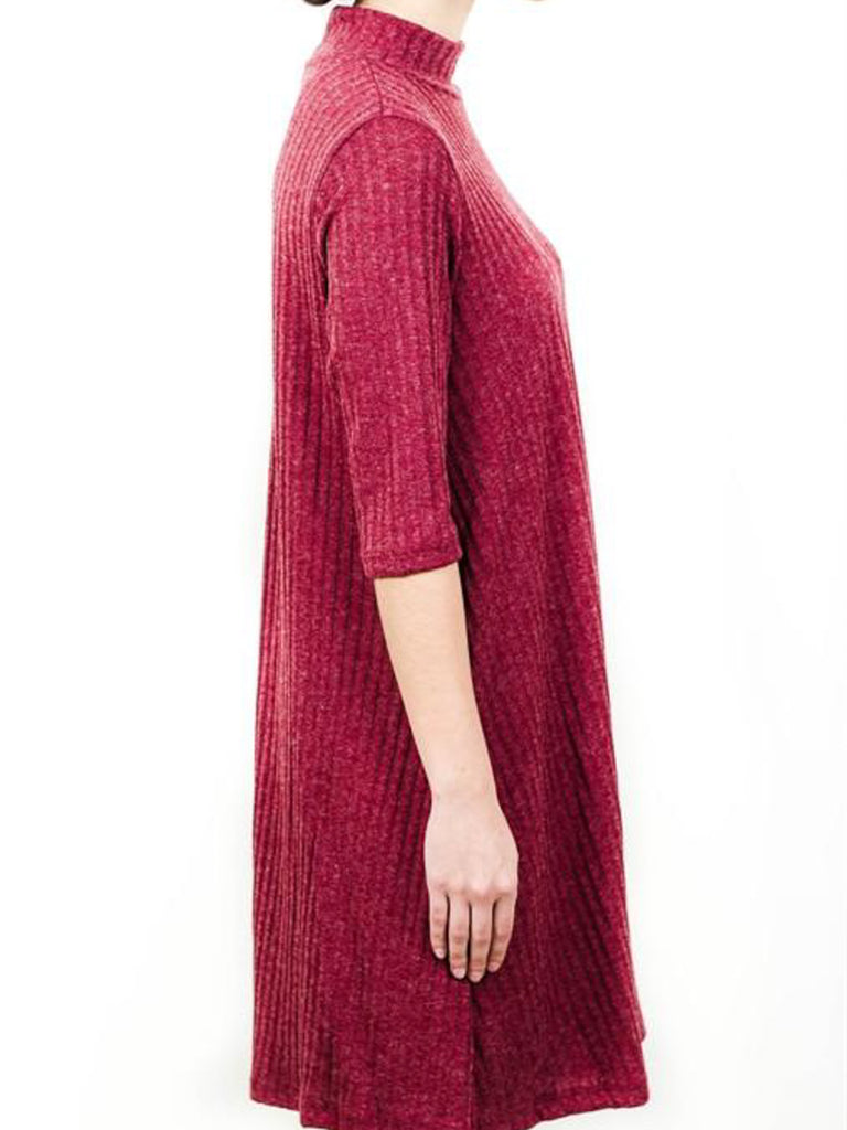 Allison Avery - Ribbed Mock Neck Tunic - Free Shipping Over $50