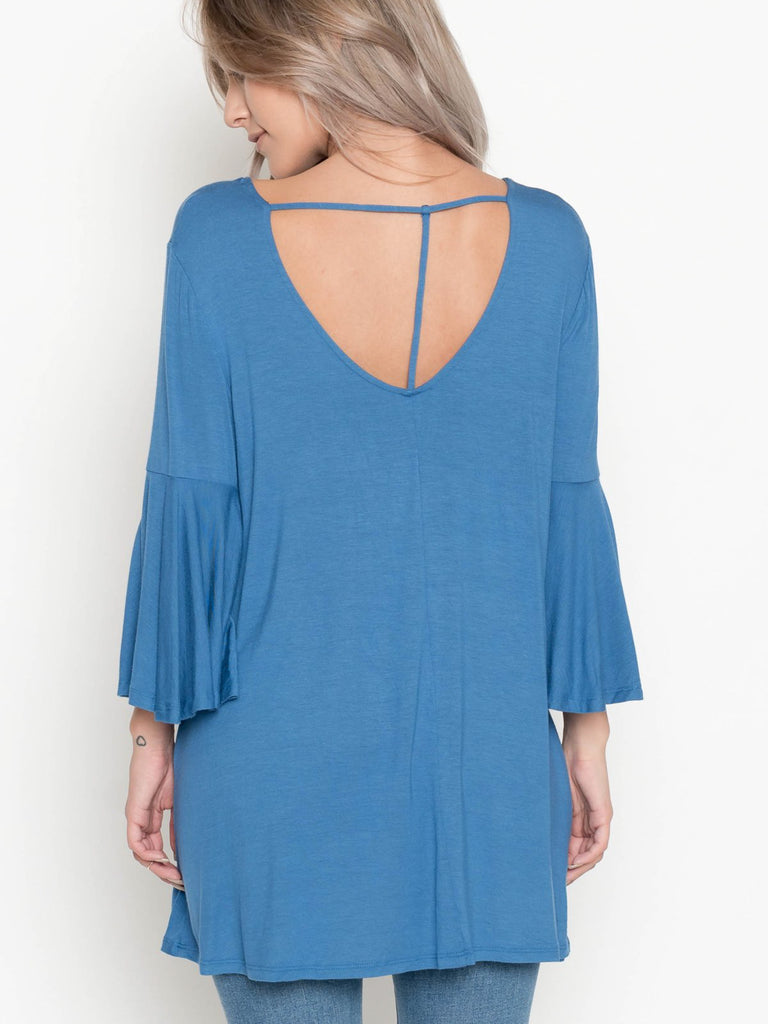 Allison Avery - Back Detail Bell Tunic - Free Shipping Over $50