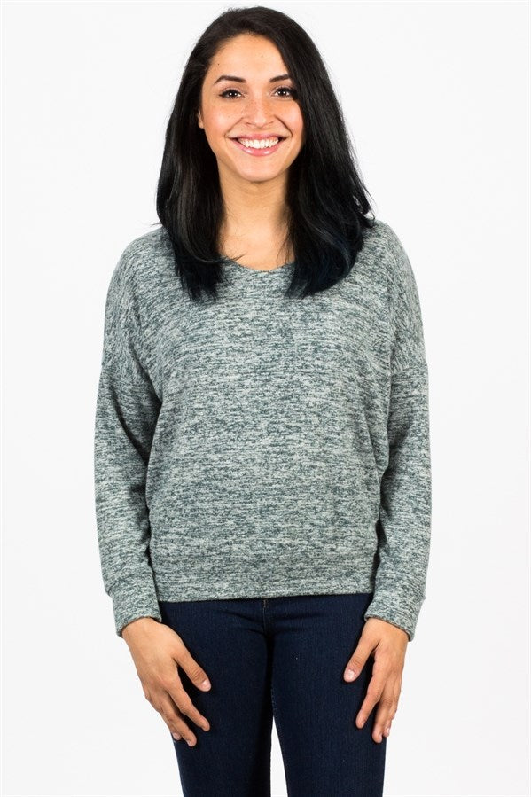 Crossback Hacci Sweater