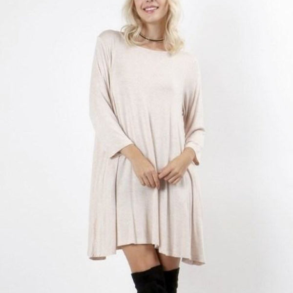 Allison Avery - 3 4 Sleeve Tunic With Pockets - Free Shipping Over $50