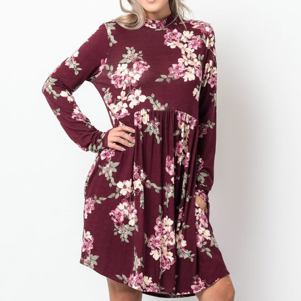 Allison Avery - Floral Pocket Tunic S Xl - Free Shipping Over $50