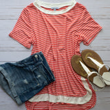 Contrast Collar Summer Top