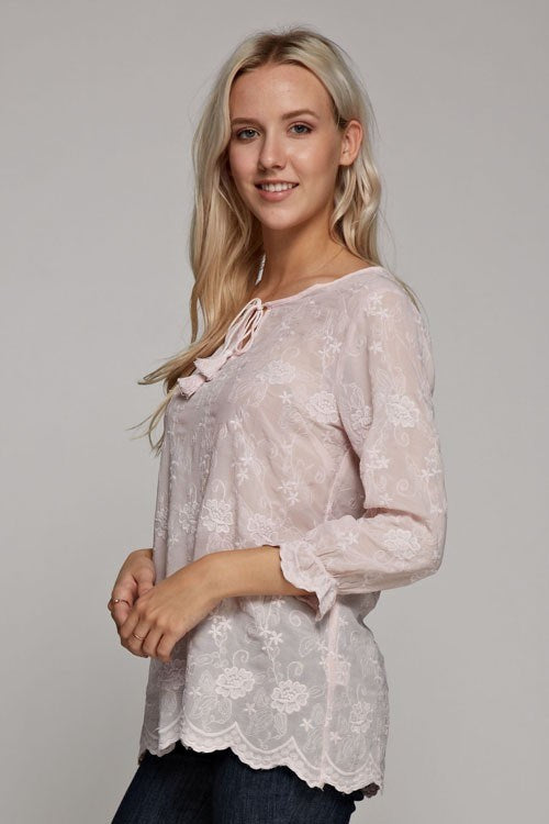 Beautiful Emboidered Lace Blouse