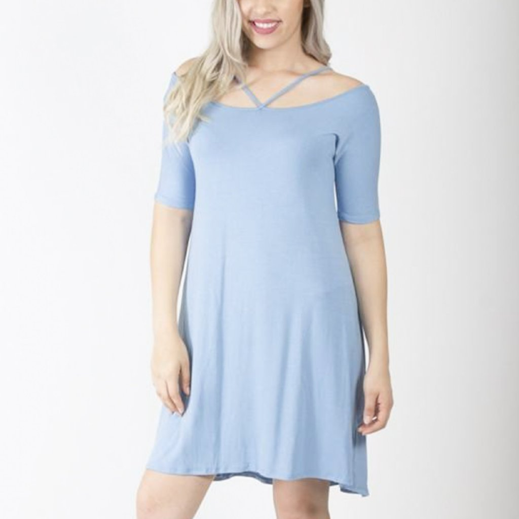 Allison Avery - Strappy Neck Dress - Free Shipping Over $50