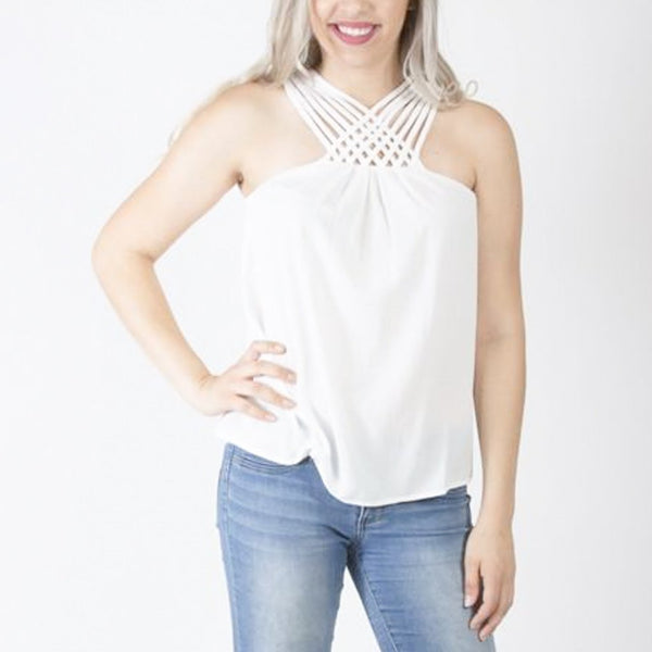 Allison Avery - Strappy Neck Tank - Free Shipping Over $50