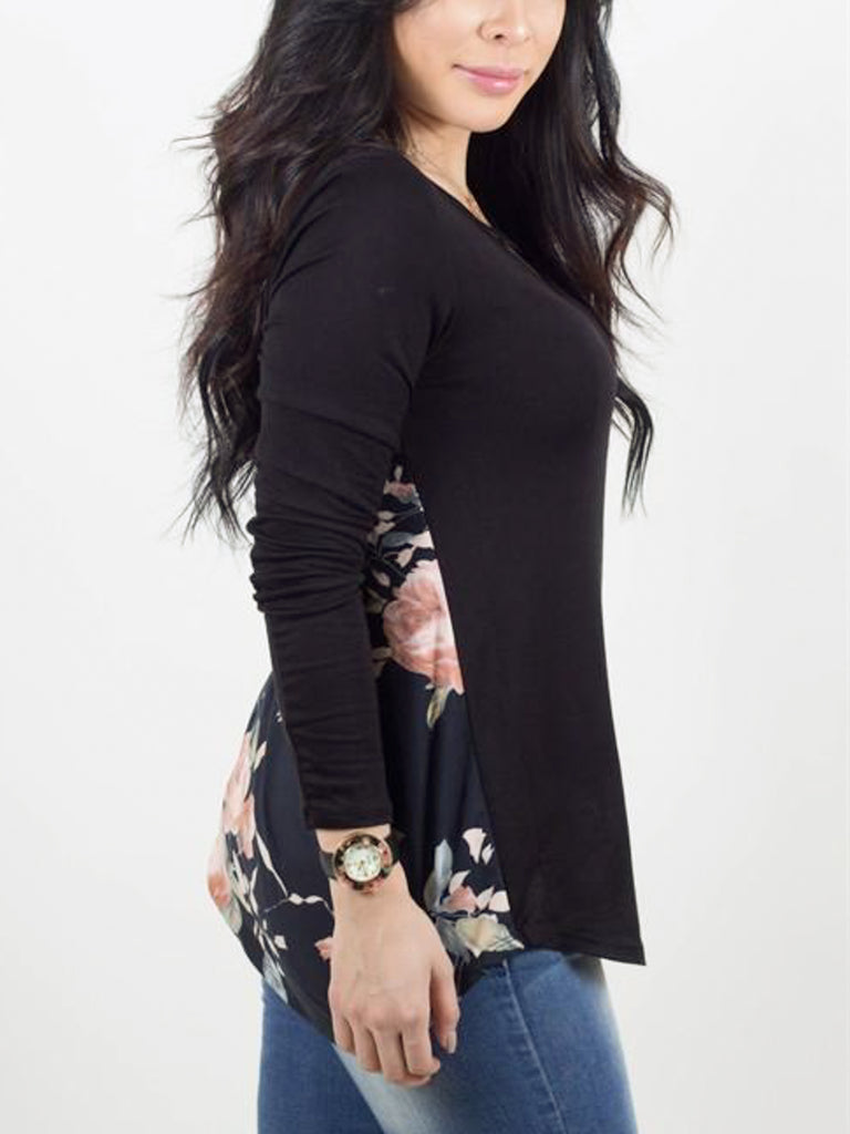 Floral Back Crossfront Top - Free Shipping Over $50 | AllisonAvery.com - 5