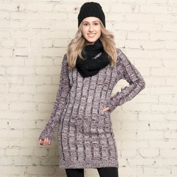 Allison Avery - Cozy Sweater Tunic - Free Shipping Over $50