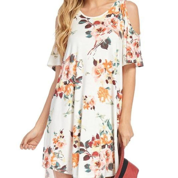 Allison Avery - Floral Off Shoulder Tunics - Free Shipping Over $50