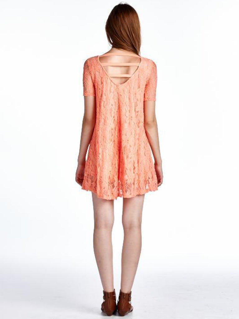 Allison Avery - Lace Ladder Back Tunic - Free Shipping Over $50
