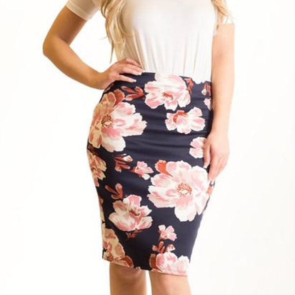 Allison Avery - Floral Pencil Skirts - Free Shipping Over $50