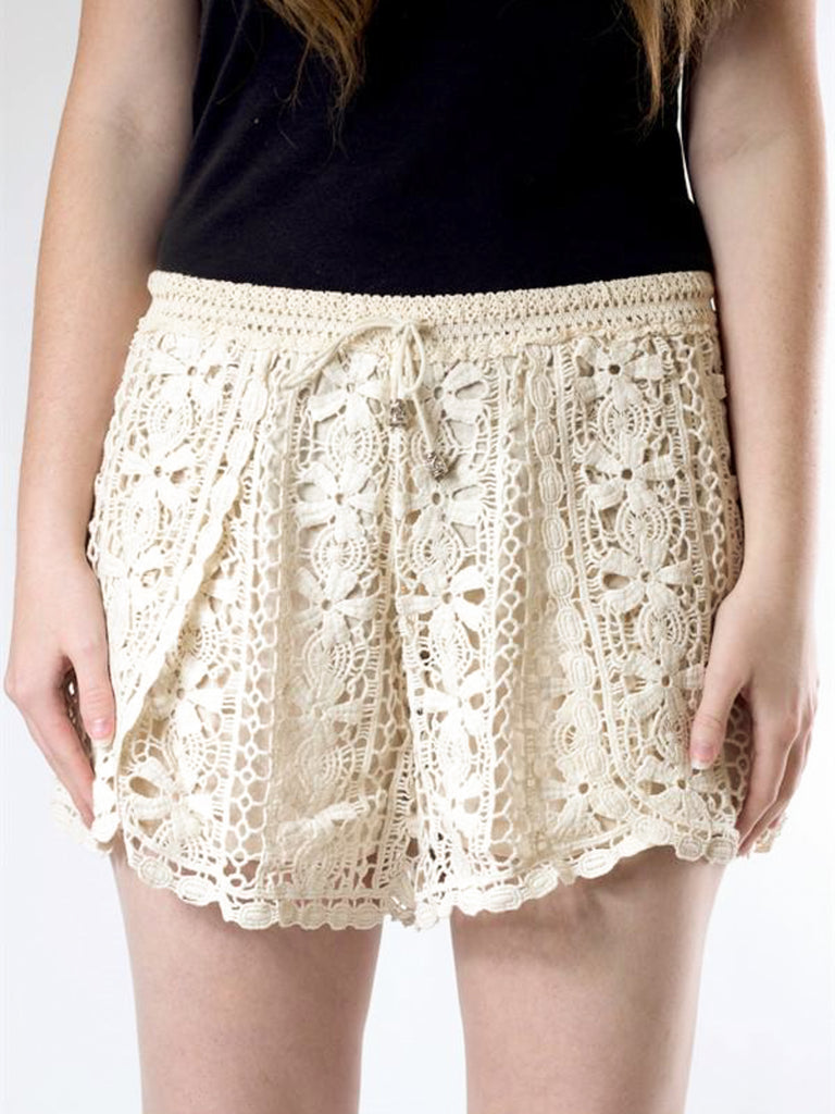 Allison Avery - Crochet Drawstring Shorts - Free Shipping Over $50