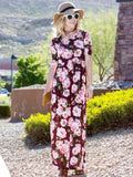 Allison Avery - 1 2 Sleeve Floral Maxi - Free Shipping Over $50
