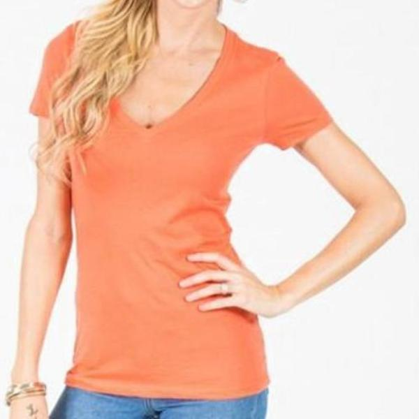 Allison Avery - Deep V Neck Tee - Free Shipping Over $50