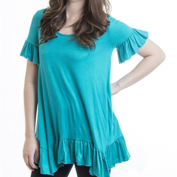 Allison Avery - Soft Ruffle Top - Free Shipping Over $50