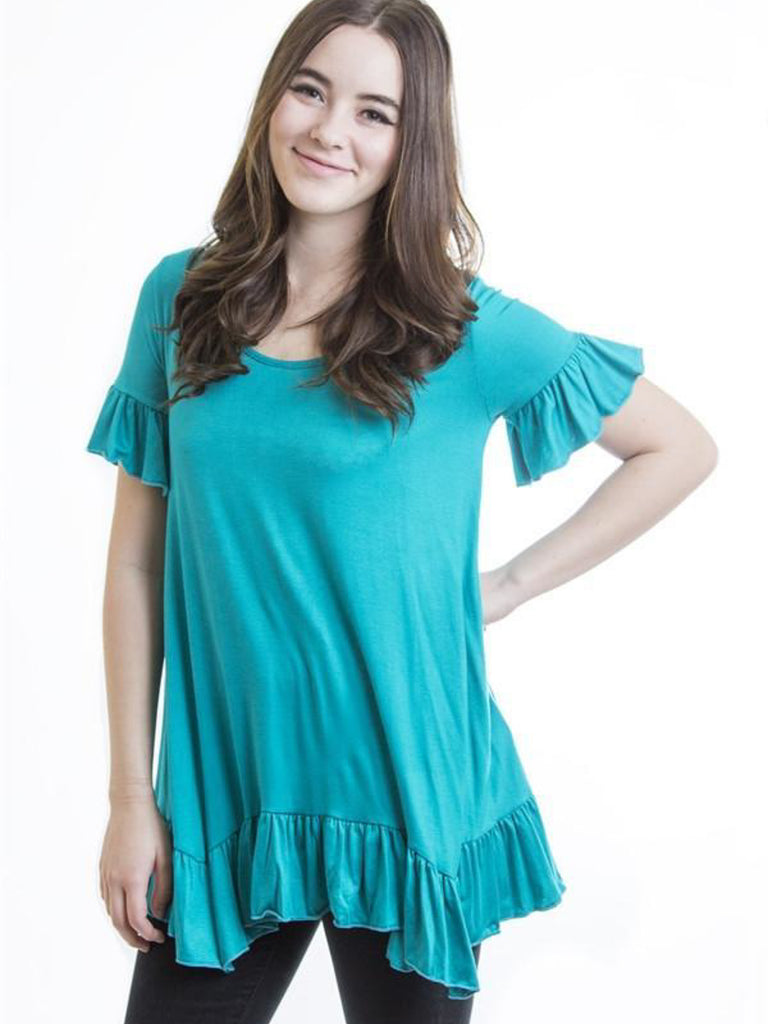 Allison Avery - Soft Ruffle Tops - Free Shipping Over $50