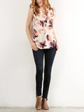 Allison Avery - Floral Chiffon Tanks - Free Shipping Over $50