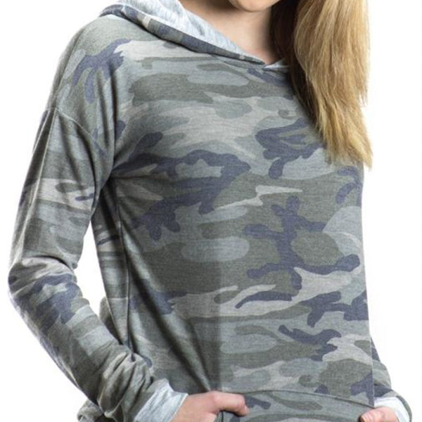 Allison Avery - Camo Hoodie Made In America - Free Shipping Over $50