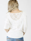 Allison Avery - Crochet Back Tee - Free Shipping Over $50