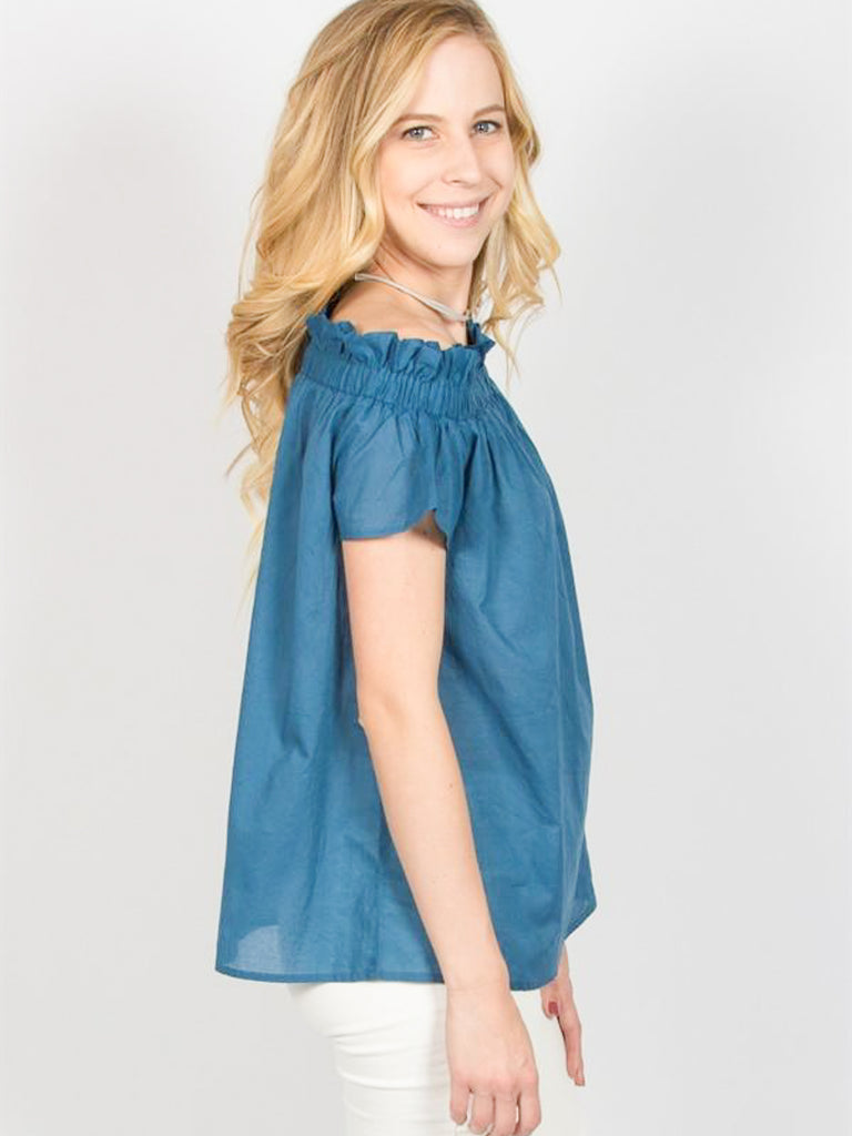 Allison Avery - Ruffled Shoulder Top - Free Shipping Over $50